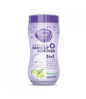 دستمال مرطوب پاک کنندهی آرایش دافی مدل 5 در 1 | بسته 70 عددی