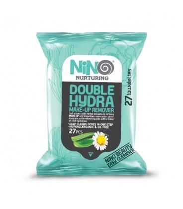 دستمال مرطوب آرایشی آبرسان نینو مدل Double Hydra | بسته 27 عددی