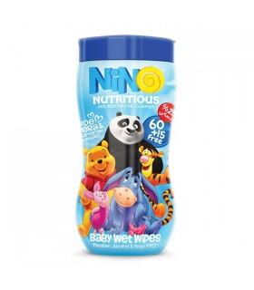دستمال مرطوب کودک انیمیشن نینو | قوطی 75 عددی