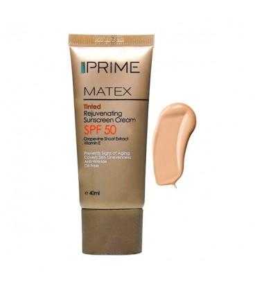 کرم ضد آفتاب رنگی جوان کننده پریم SPF50