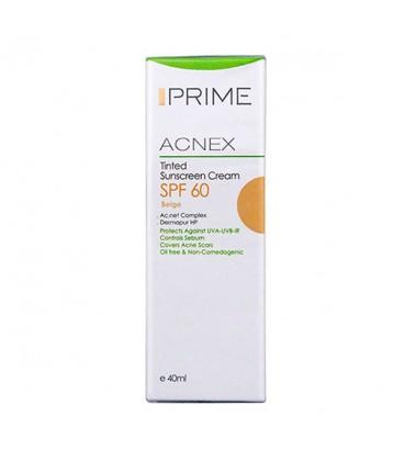 کرم ضد آفتاب رنگی پریم SPF 60 مدل Acnex