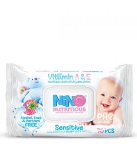دستمال مرطوب کودک حساس نینو