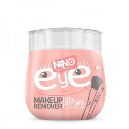 دستمال مرطوب پاک کننده آرایش دور چشم نینو | قوطی 45 عددی