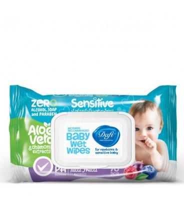 دستمال مرطوب کودک حساس دافی | بسته 70 عددی
