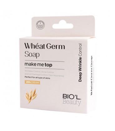 صابون آرایش پاک کن شیر کرمی جوانه گندم بیول مناسب انواع پوست