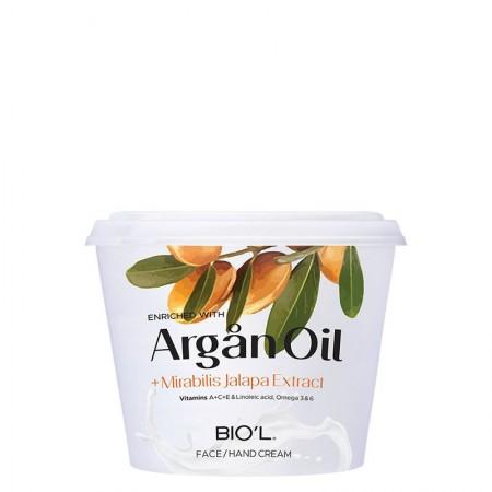 کرم مرطوب کننده Argan oil بیول کاسه ای حجم 250 میلی لیتر