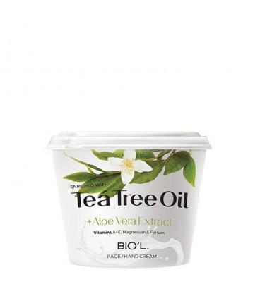 کرم مرطوب کننده Tea tree oil بیول کاسه ای حجم 250 میلی لیتر