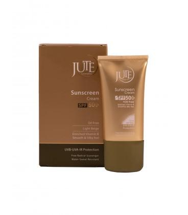 کرم ضد آفتاب رنگی SPF 50 ژوت مناسب پوست چرب