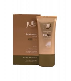 کرم ضد آفتاب بی رنگ SPF 50 ژوت مناسب انواع پوست