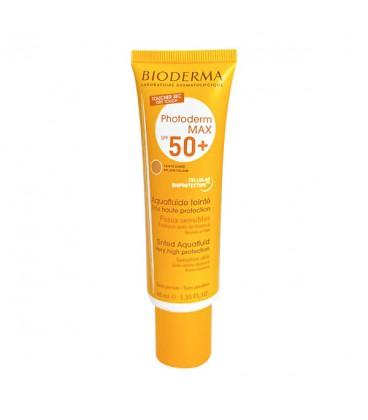 ضد آفتاب رنگی آکوا فلوئید بایودرما مدل photoderm max SPF50