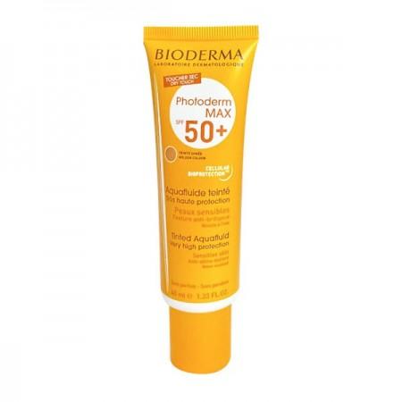 ضد آفتاب رنگی بایودرما مدل +Photoderm MAX Aquafluid SPF 50 مناسب پوست چرب و مختلط