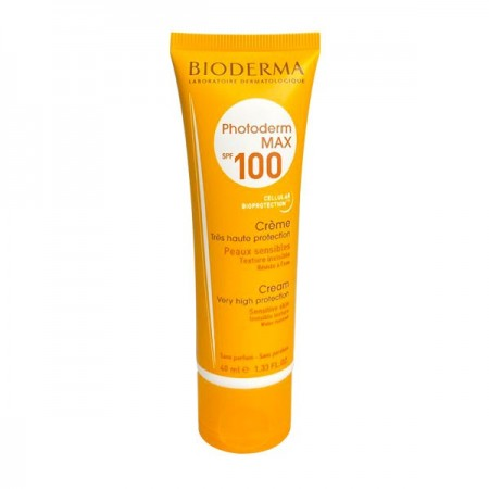 کرم ضد آفتاب بی رنگ بایودرما مدل Photoderm MAX Cream SPF100 مناسب پوست خشک تا نرمال