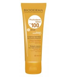 کرم ضد آفتاب رنگی بایودرما مدل Photoderm Max Cream SPF100 مناسب پوست خشک تا نرمال