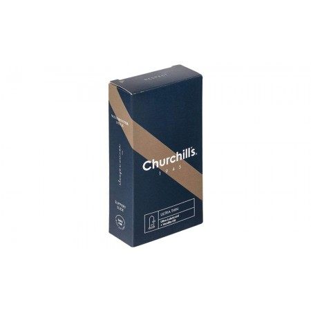 کاندوم فوق العاده نازک روان کننده مضاعف چرچیلز با اسانس وانیل بسته 12 عددی
