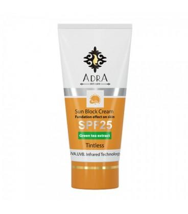 کرم ضد آفتاب SPF 25 بی رنگ آدرا