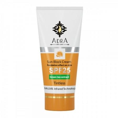 کرم ضد آفتاب بی رنگ آدرا SPF 25