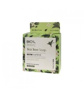 صابون آرایش پاک کن شیر کرمی روغن درخت چای بیول مناسب پوست چرب
