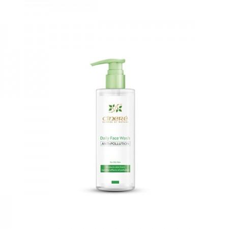 ژل شستشوی صورت مرطوب کننده و ضد آلودگی هوا سینره مخصوص پوست چرب
