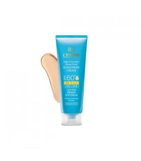 کرم ضد آفتاب مات سینره +SPF 60 رنگی مناسب پوست چرب