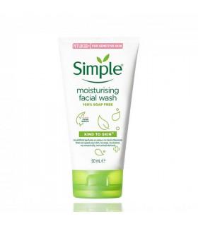 ژل شستشو مرطوب کننده و آبرسان سیمپل مناسب پوست حساس 50 میل
