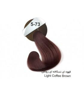 رنگ موی کراتینه دنیس سری نسکافه ای قهوه ای نسکافه ای روشن کد 73-5
