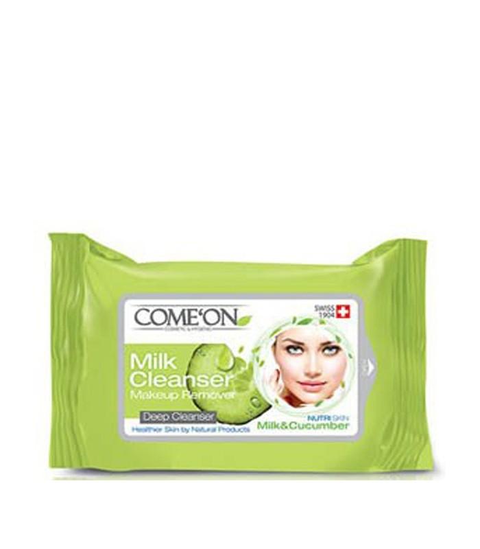 دستمال مرطوب پاک کننده آرایش کامان - شیر پاک کن